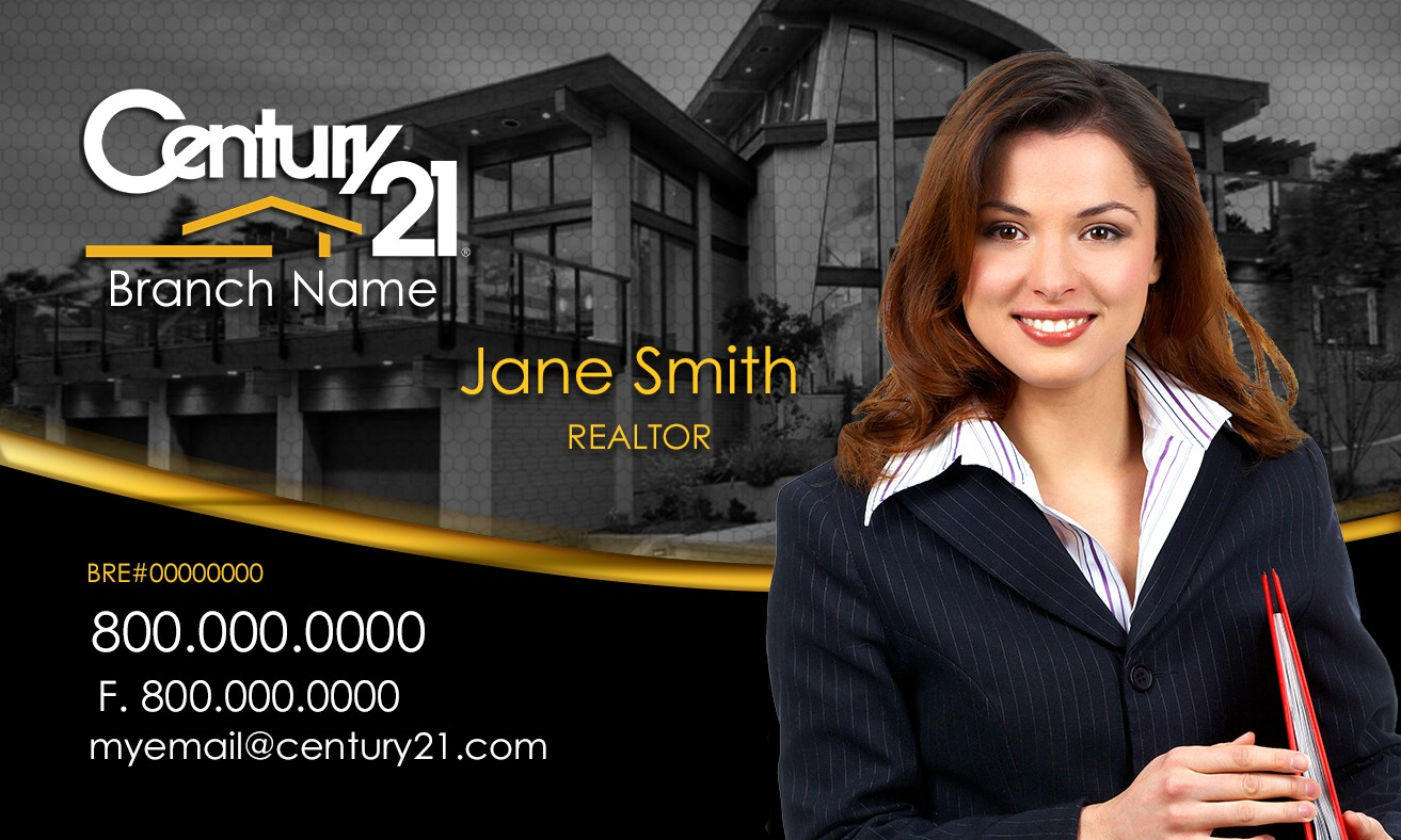 Century 21 agents, design Century 21 business cards online. Custom ...