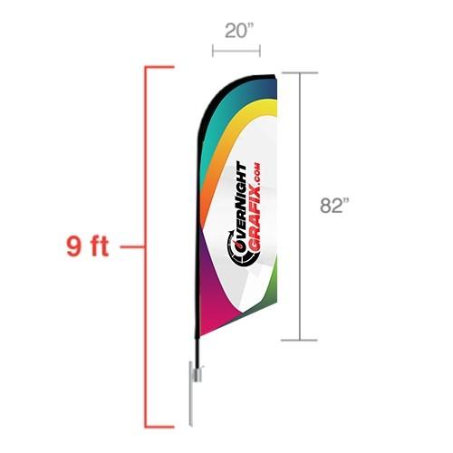 Custom Feather Flag Angled (small) 9ft tall