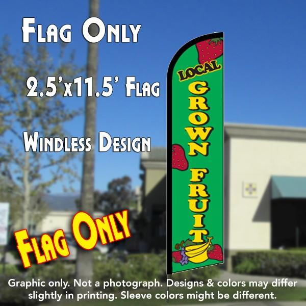 Local Grown Fruit Windless Feather Banner Flag 2 5 X 11 5 Feet Overnight Grafix