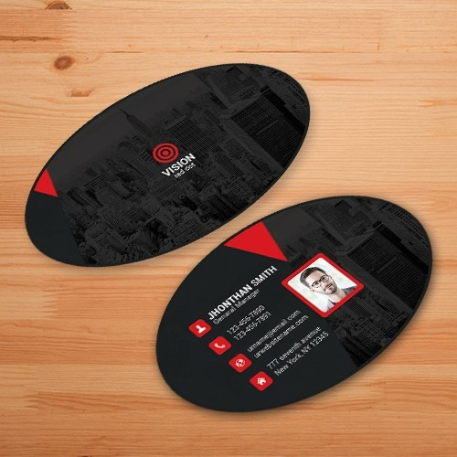 Oval business cards with matte dull finish 2 x 35 16pt matte oval business cards colourmoves