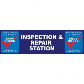 2 x 7 Smog Check Banner Inspection & Repair Station - State of california Licensed