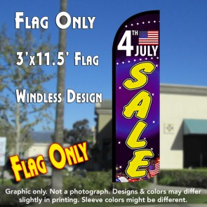 4th of July Sale Windless Polyknit Feather Flag (3 x 11.5 feet)