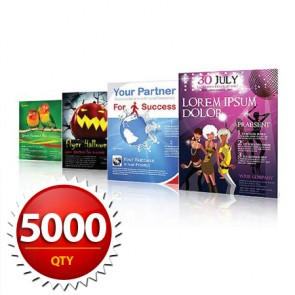 "5000 8.5""x11"" Flyers on 100LB Gloss Book with AQ"