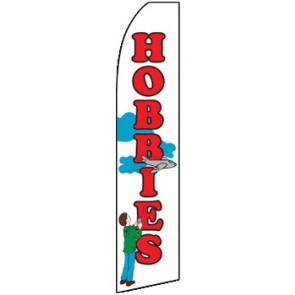 Hobbies  (11.5 x 2.5) Feather Banner Flag Kit (Flag, Pole, & Ground Mt)