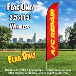 AC REPAIR red yellow windless flag