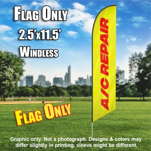AC REPAIR yellow red windless flag