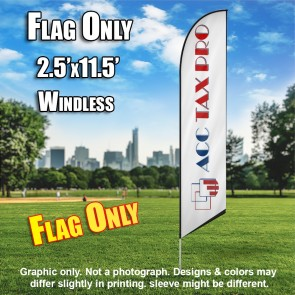 ACC TAX PRO white blue red windless flag