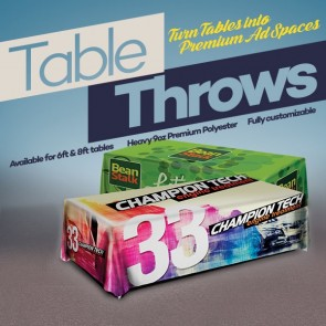 Table Throw - 9oz Economy Polyester 3 sided