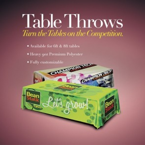 Table Throw - 9oz Economy Polyester 4 sided