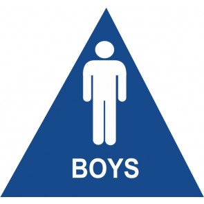 """ADA Signs 12"""" x 12"""" Boys"""