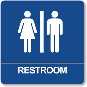 "ADA Signs 8"" x 8"" Restroom"