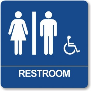"ADA Signs 8"" x 8"" Restroom_with_wheel_chair"