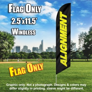 ALIGNMENT black yellow windless flag