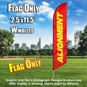 ALIGNMENT red yellow windless flag
