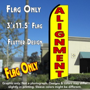 ALIGNMENT (Yellow) Flutter Feather Banner Flag (11.5 x 3 Feet)