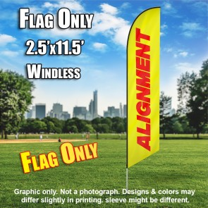 ALIGNMENT  yellow red windless flag