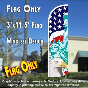America's Symbols Windless Polyknit Feather Flag (3 x 11.5 feet)