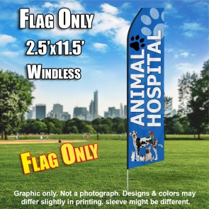 ANIMAL HOSPITAL BLUE feather flags econo banner swooper