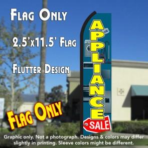 APPLIANCE SALE (Blue/Yellow) Flutter Polyknit Feather Flag (11.5 x 2.5 feet)