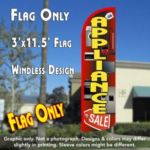 Appliance Sale (Red/Yellow) Windless Polyknit Feather Flag (3 x 11.5 feet)