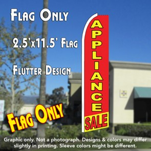 APPLIANCE SALE (Red/Yellow) Flutter Feather Banner Flag (11.5 x 2.5 Feet)