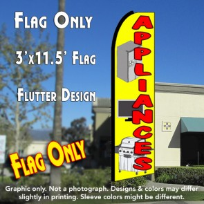 APPLIANCES (Yellow) Flutter Feather Banner Flag (11.5 x 3 Feet)