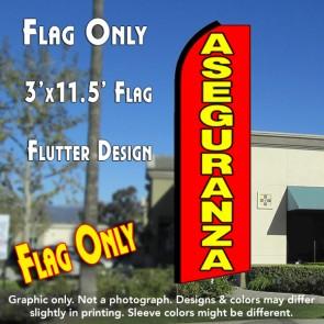 ASEGURANZA (Red) Flutter Feather Banner Flag