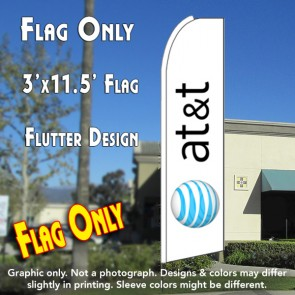 AT&T Flutter Feather Banner Flag (11.5 x 3 Feet)