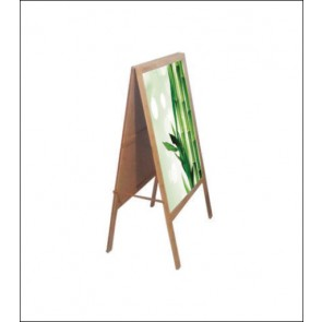 Bamboo A-Frame Banner Stand - Double Faced