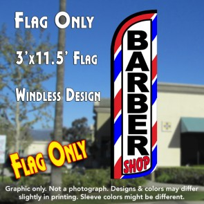 Barber Shop (Red/White/Blue) Windless Polyknit Feather Flag