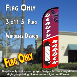 Beauty & Barber Windless Polyknit Feather Flag (3 x 11.5 feet)