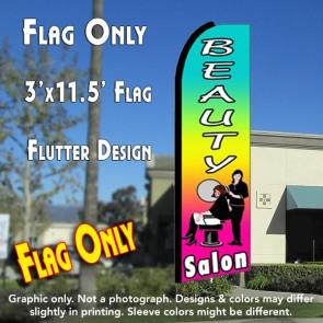 BEAUTY SALON (Multi-colored) Flutter Feather Banner Flag (11.5 x 3 Feet)