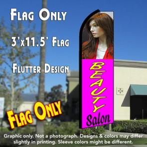 BEAUTY SALON (Purple) Flutter Feather Banner Flag (11.5 x 3 Feet)