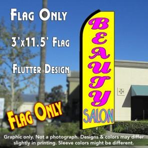 BEAUTY SALON (Yellow) Flutter Feather Banner Flag (11.5 x 3 Feet)
