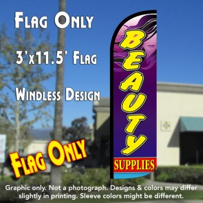 Beauty Supplies Windless Polyknit Feather Flag (3 x 11.5 feet)