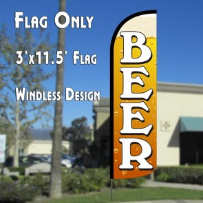 Beer (Gold) Windless Advertising Flag