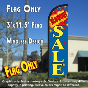 Blow Out Sale Windless Polyknit Feather Flag (3 x 11.5 feet)