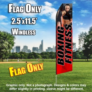 BOXING FITNESS red black flutter flag