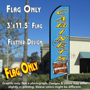 CABINETS (Blue) Flutter Feather Banner Flag (11.5 x 3 Feet)