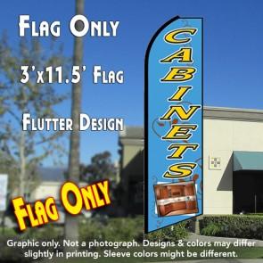 CABINETS (Blue) Flutter Feather Banner Flag (11.5 x 3 Feet)