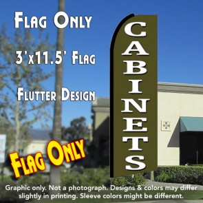 CABINETS (Green) Flutter Feather Banner Flag (11.5 x 3 Feet)