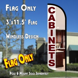 Cabinets Windless Polyknit Feather Flag (3 x 11.5 feet)