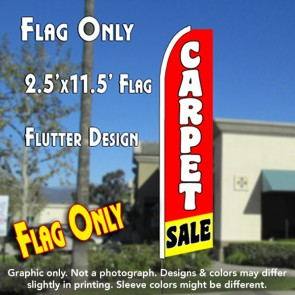 CARPET SALE (Red/Yellow) Flutter Feather Banner Flag (11.5 x 2.5 Feet)