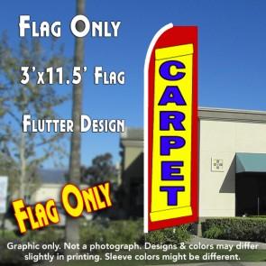 CARPET (Yellow/Red) Flutter Feather Banner Flag (11.5 x 2.5 Feet)