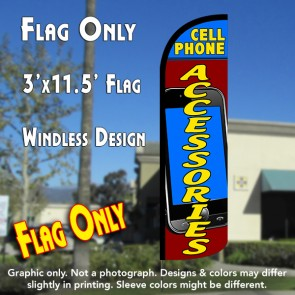 Cell Phone Accessories Windless Polyknit Feather Flag (3 x 11.5 feet)