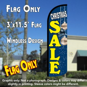 Christmas Sale (Blue) Windless Polyknit Feather Flag (3 x 11.5 feet)