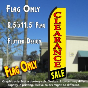 CLEARANCE SALE (Yellow/Red) Flutter Polyknit Feather Flag (11.5 x 2.5 feet)