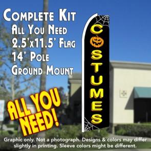 COSTUMES (Halloween) Flutter Feather Banner Flag Kit (Flag, Pole, & Ground Mt)