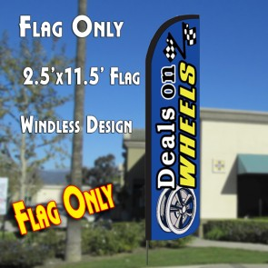 DEALS ON WHEELS Windless Polyknit Feather Flag (2.5 x 11.5 feet)