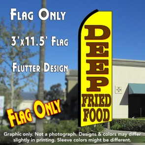 DEEP FRIED FOOD Flutter Feather Banner Flag (11.5 x 3 Feet)